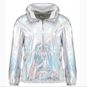 Stunning Silver converse jacket